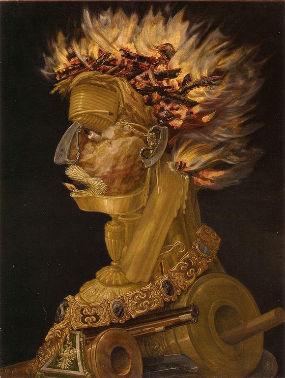 Giuseppe Arcimboldo Fire