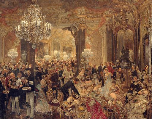 Adolph Menzel The Dinner at the Ball 1878