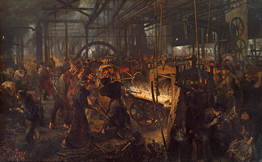 Adolph Menzel The Iron Rolling Mill 1872-1875