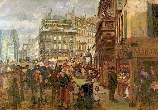 Adolph Menzel Weekday in Paris 1869