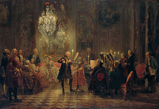 Adolph Menzel Concert for flute with Frederick the Great in Sanssouci 1850-1852