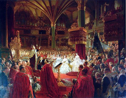 Adolph Menzel Coronation of Wilhelm I., King of Prussia, Königsberg 1861