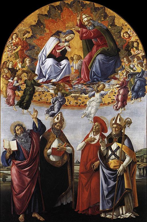 Sandro Botticelli Coronation of the Virgin (San Marco Altarpiece) 1483