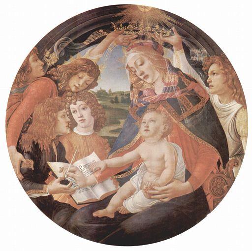 Sandro Botticelli Madonna del Magnificat 1483-1485