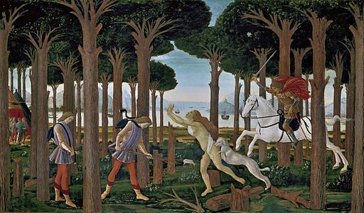 Sandro Botticelli The Story of Nastagio degli Onesti I 1483