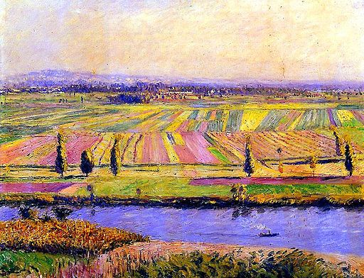 Gustave Caillebotte The plain of Gennevilliers 1888