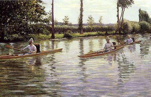 Gustave Caillebotte Skiffs on the Yerres 1877