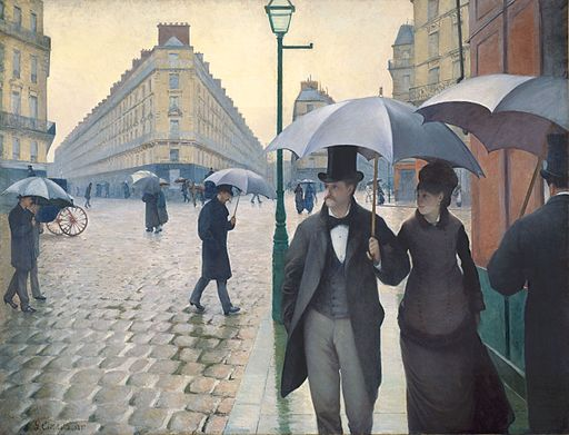 Gustave Caillebotte Paris Street in Rainy Weather 1877