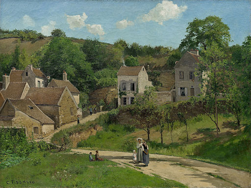 Camille Pissarro the hermitage at pontoise 1867