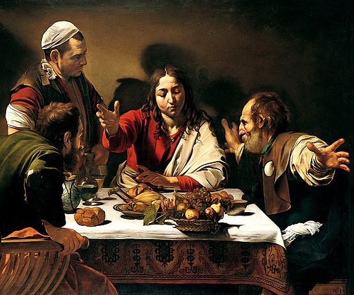 Caravaggio Supper at Emmaus 1601