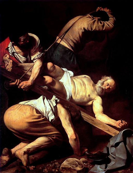 Caravaggio Crucifixion of St. Peter 1601