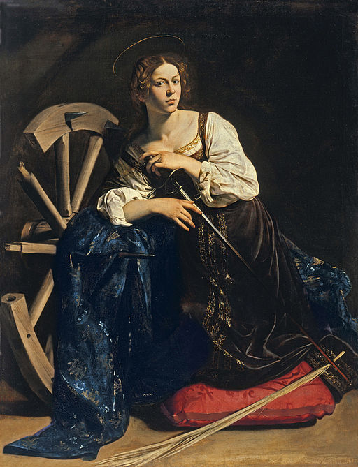 Caravaggio Svatá Kateřina Alexandijská 1598