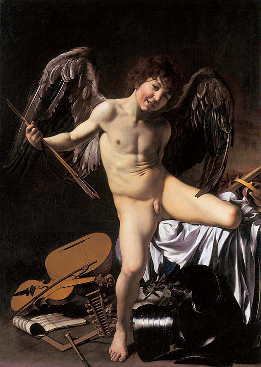 Caravaggio Cupid as Victor 1601-1602