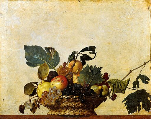 Caravaggio Basket of Fruit 1595-1596