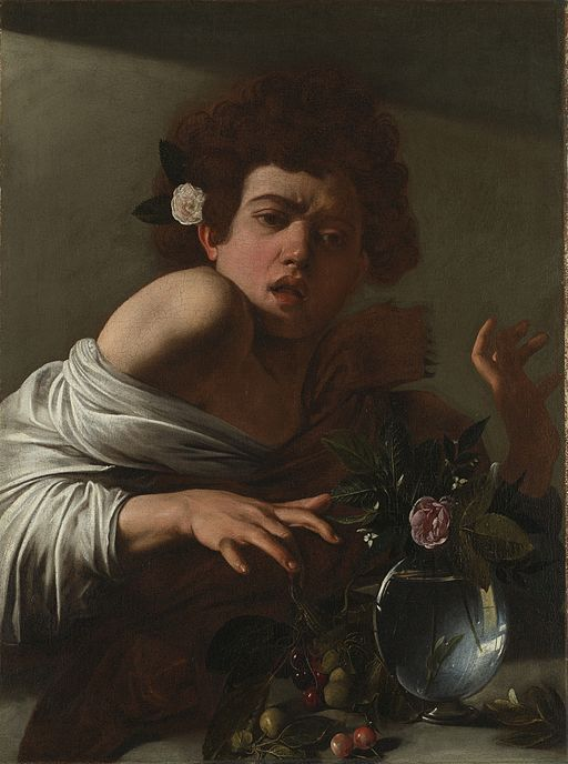 Caravaggio Boy Bitten by a Lizard 1594-1596