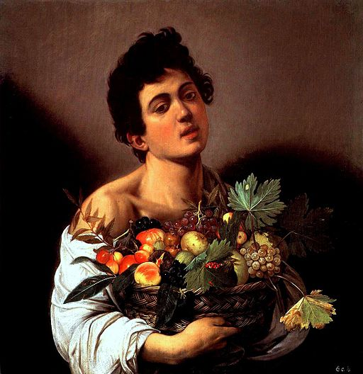 Caravaggio Boy with a Basket of Fruit 1593-1594