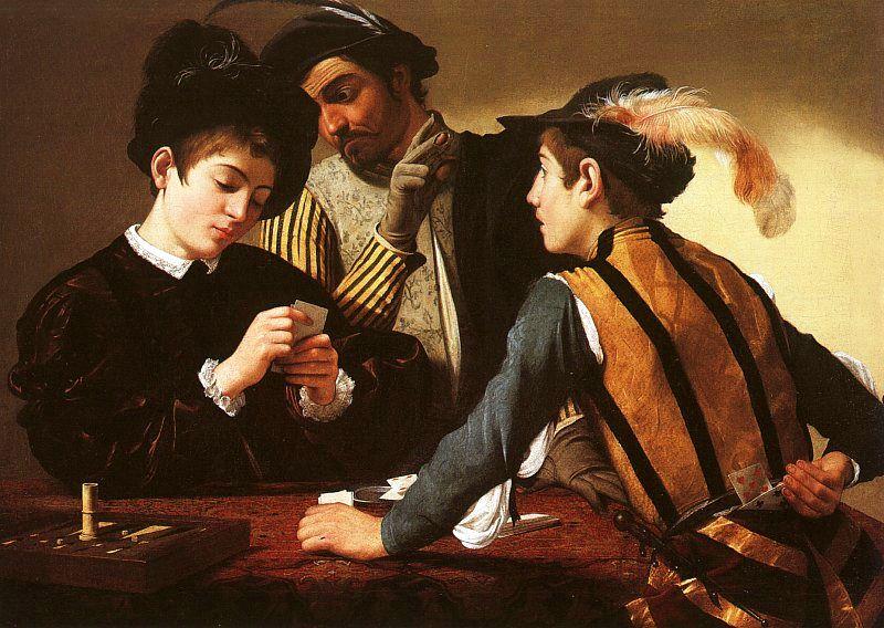 Caravaggio The Cardsharps 1594