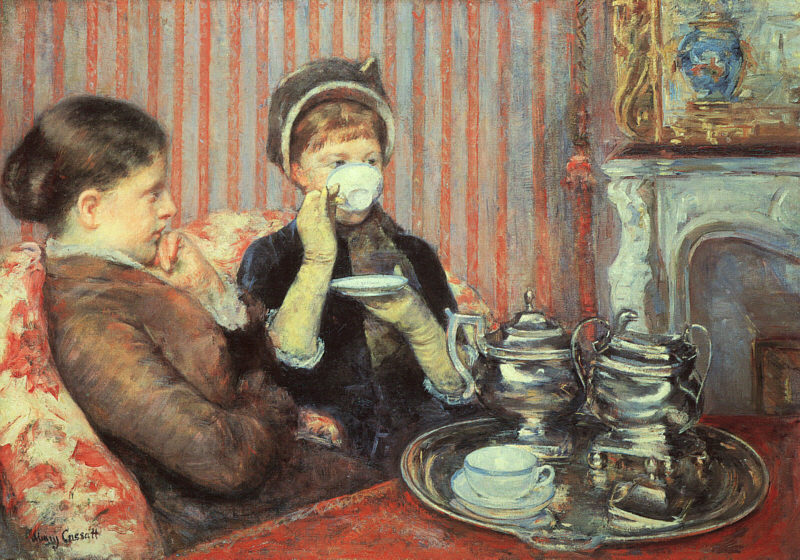 Mary Cassatt Five O'Clock Tea 1880