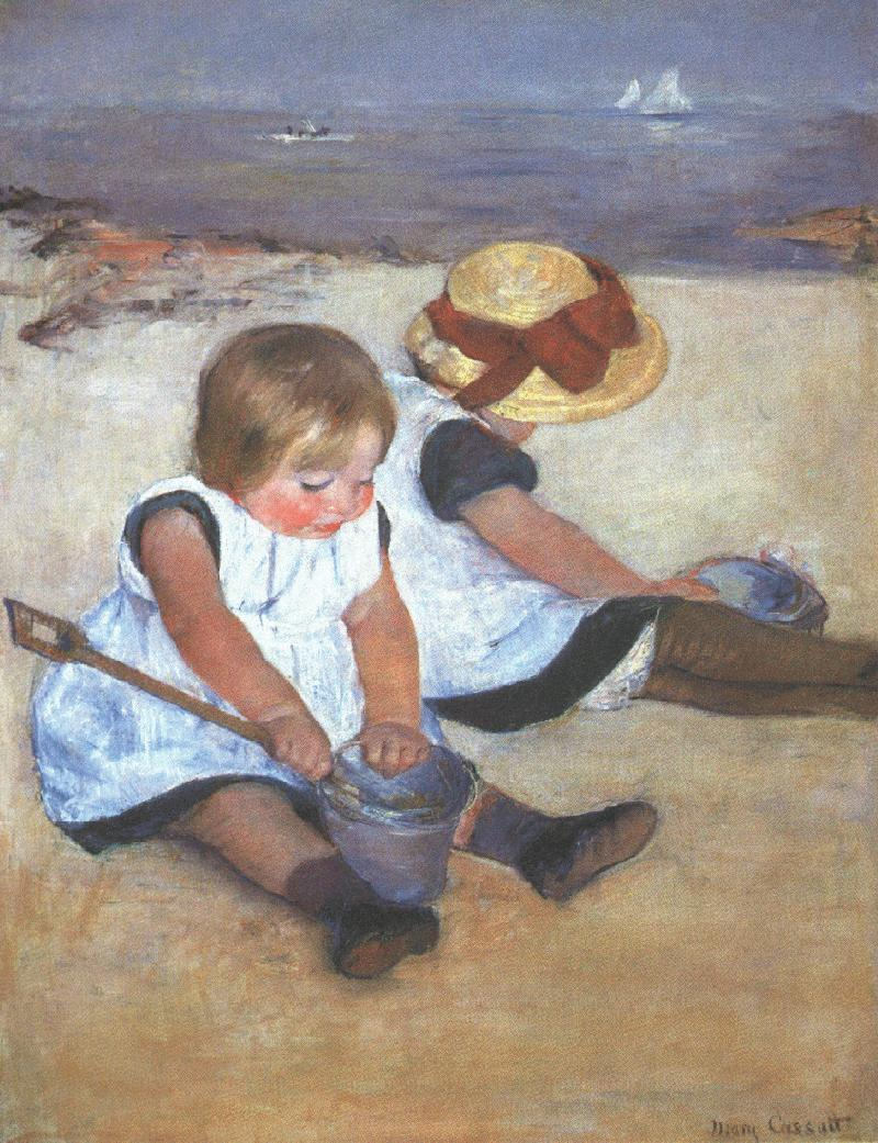 Mary Cassatt Children on the Beach 1884