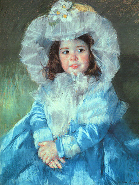 Mary Cassatt Margot in Blue 1902