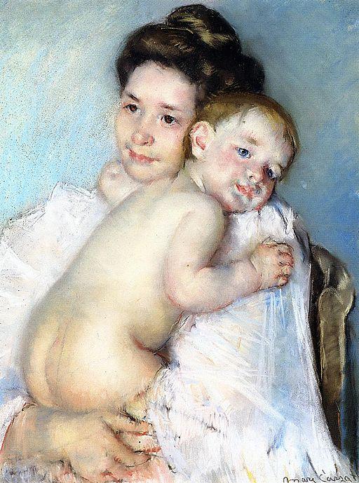 Mary Cassatt Mother Berthe Holding Her Baby 1903