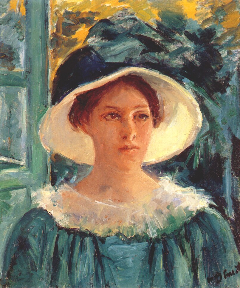 Mary Cassatt Young Woman in Green 1914