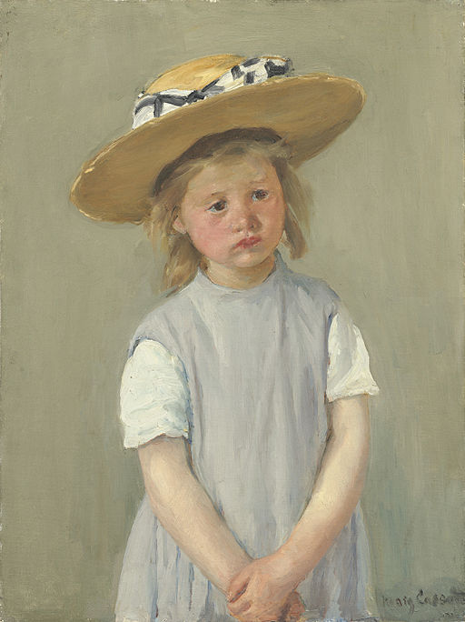 Mary Cassatt Child in a Straw Hat 1886