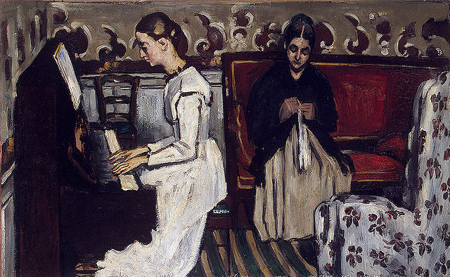 Paul Cézanne Girl at the Piano 1869-1870
