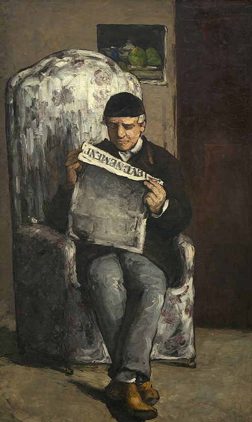 Paul Cézanne The Artist's Father, Reading