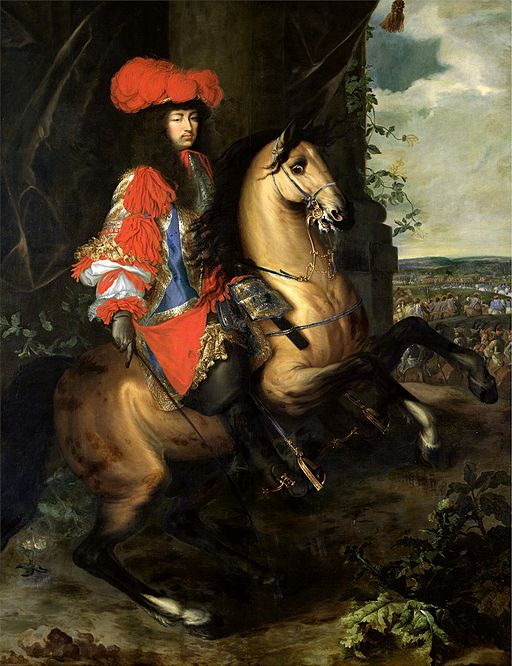 Charles Le Brun Equestrian portrait of Louis XIV of France