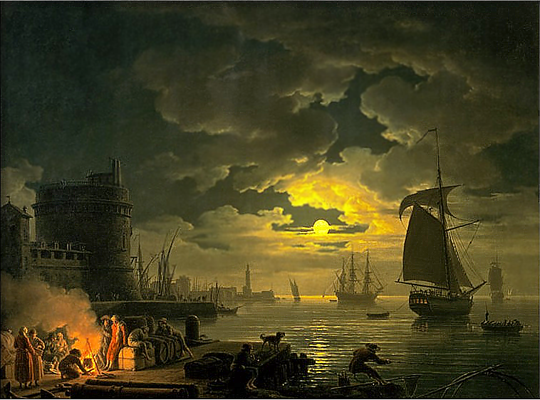 Claude Joseph Vernet Entrance to the Port of Palermo by Moonlight 1769