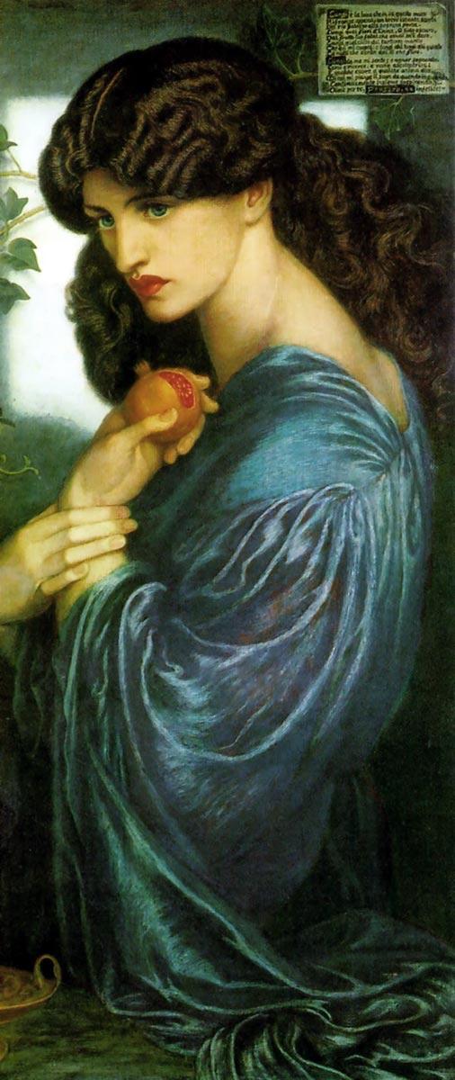 Dante Gabriel Rossetti Proserpina 1873-1877