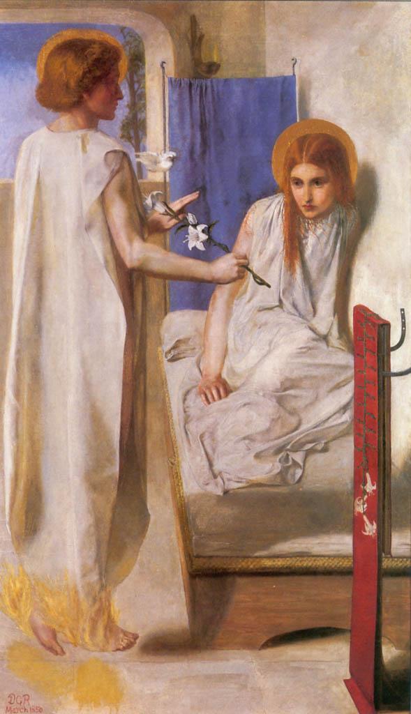 Dante Gabriel Rossetti Ecce Ancilla Domini 1850
