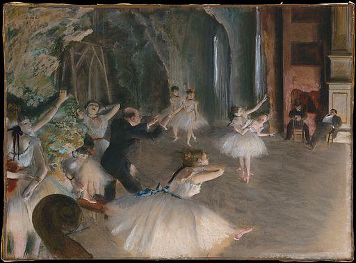 Edgar Degas Répétition d'un ballet sur la scène 1874