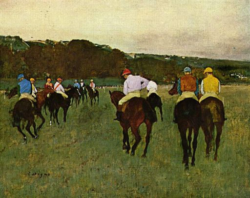 Edgar Degas Les Courses à Longchamp 1873-1875