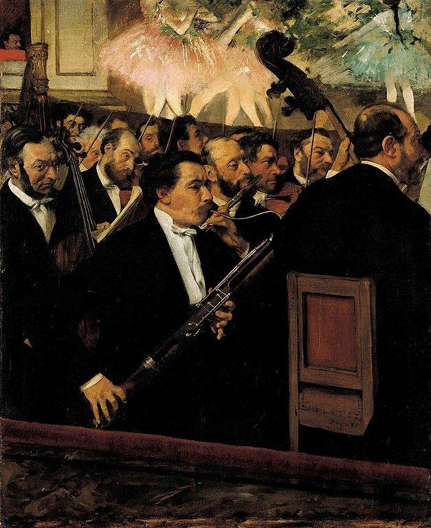 Edgar Degas L'Orchestre de l'Opéra 1870