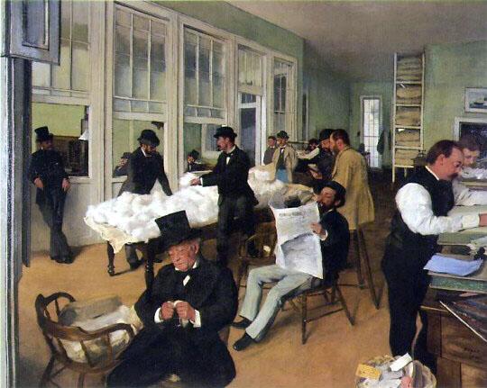 Edgar Degas Le Bureau de coton à la Nouvelle-Orléans