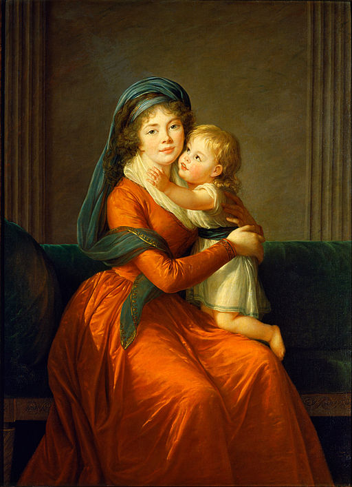 Élisabeth Louise Vigée Le Brun Portrait of princess Alexandra Golitsyna and her son Piotr 1794