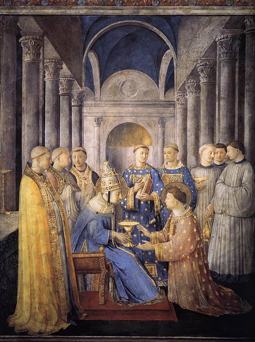 Fra Angelico St Peter Consacrates St Lawrence as Deacon 1447-1449