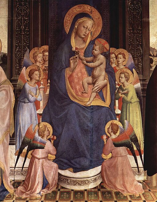Fra Angelico Thronende Madonna 1424-1425