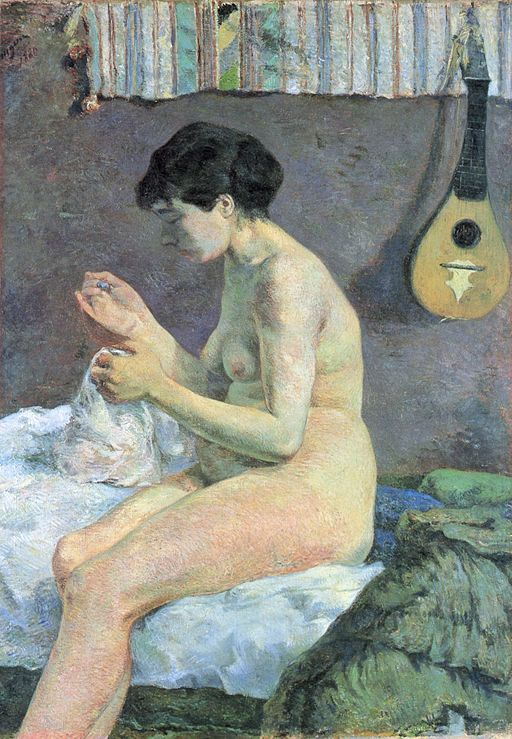 Paul Gauguin Suzanne Sewing 1880
