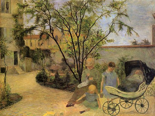 Paul Gauguin Figures in a Garden 1881