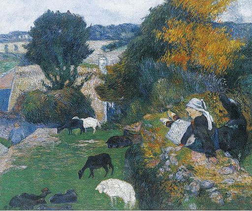 Paul Gauguin The Breton shepherdess 1886
