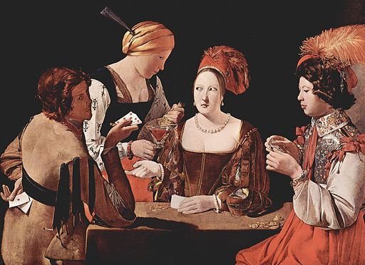 Georges de La Tour The Cheat with the Ace of Diamonds 1635