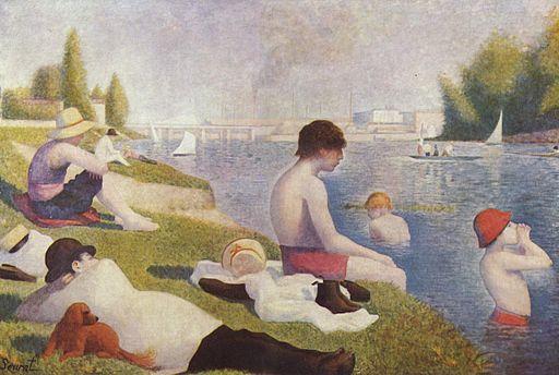 Georges Seurat Bathers in Asnières 1883-1884