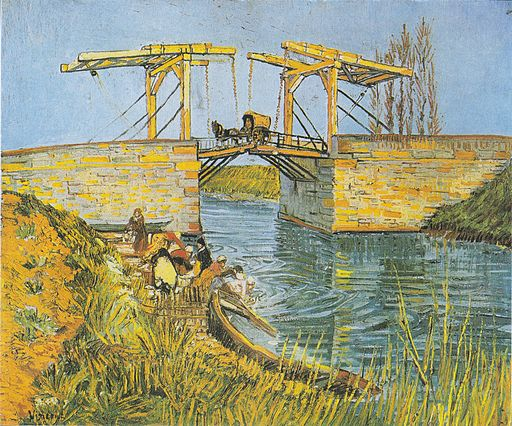 Vincent van Gogh The Bridge of Langlois at Arles with laundresses 1888