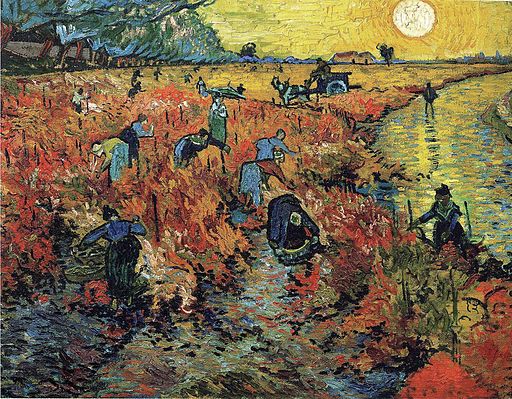 Vincent van Gogh The Red Vineyard 1888