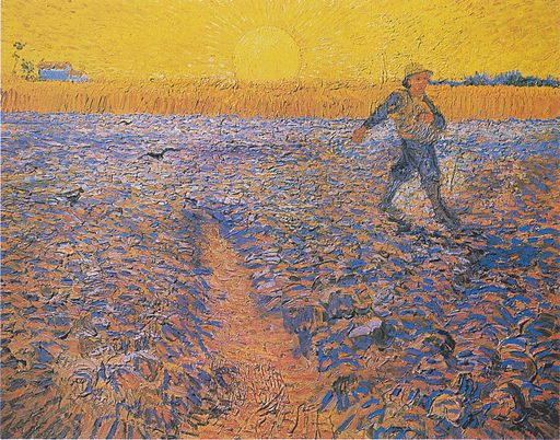 Vincent van Gogh Sower at Sunset 1888