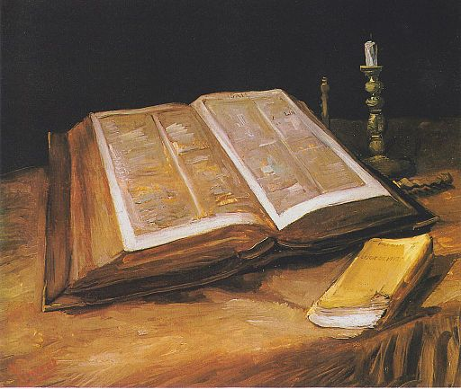 Vincent van Gogh Still Life with Bible 1885