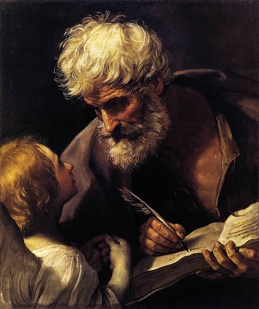 Guido Reni St Matthew and the Angel 1635-1640